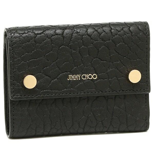 ジミーチュウ 三つ折り財布 レディース JIMMY CHOO ブラック