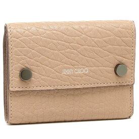【4時間限定ポイント10倍】ジミーチュウ 三つ折り財布 レディース JIMMY CHOO ピンク