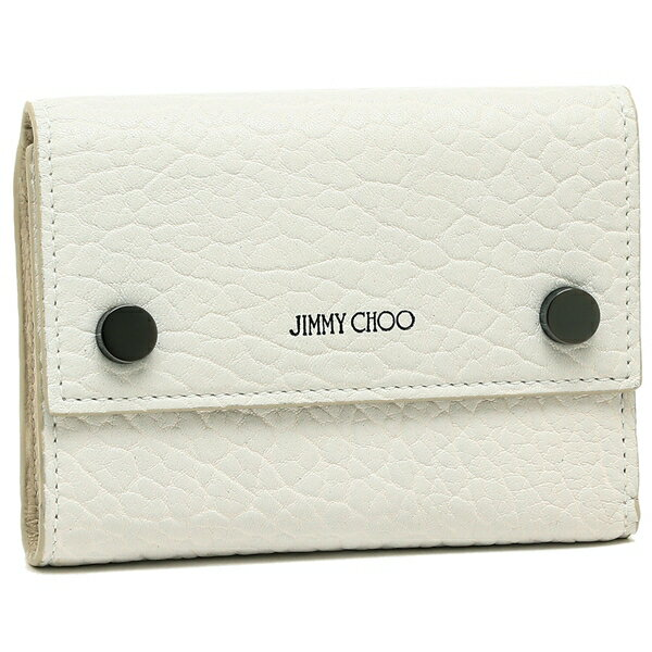 ジミーチュウ 三つ折り財布 レディース JIMMY CHOO ホワイト