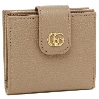 Gucci fold wallet Lady's GUCCI 523193 CAO0G 5729 beige