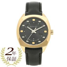 【返品OK】グッチ 腕時計 メンズ GUCCI YA142408 ブラック イエローゴールド