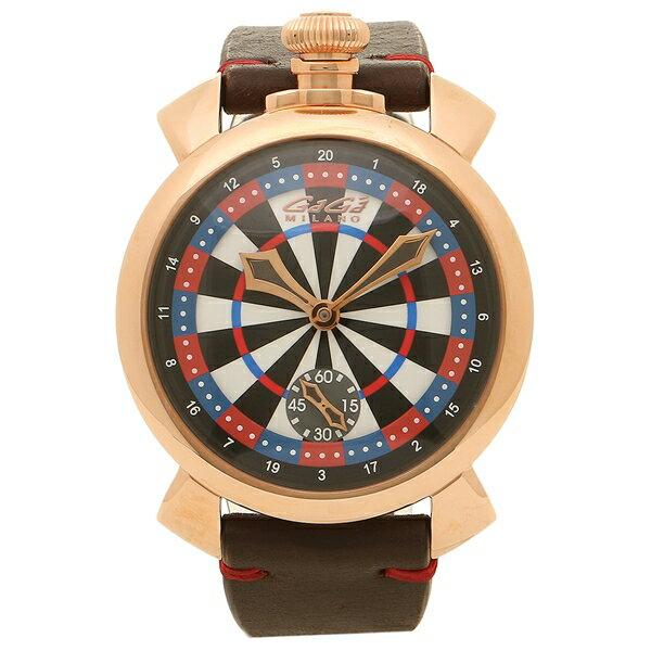 【24時間限定ポイント5倍】ガガミラノ 腕時計 メンズ GAGA MILANO 5011LV03 マルチカラー ブラウン ローズゴールド
