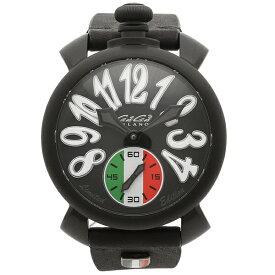 【4時間限定ポイント10倍】【返品OK】ガガミラノ 腕時計 メンズ GAGA MILANO 5012LEIT02 ブラック トリコロール
