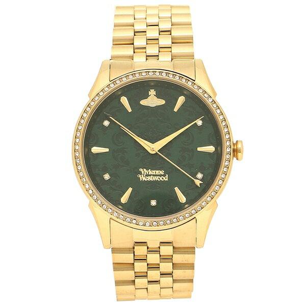 ヴィヴィアンウエストウッド 腕時計レディース VIVIENNE WESTWOOD VV208GDGD イエローゴールド グリーン