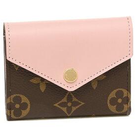 【6時間限定ポイント10倍】【返品OK】ルイヴィトン 折財布 レディース LOUIS VUITTON M62933 ブラウン ピンク