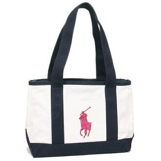 Polo Tote Bag Lady S Ralph Lauren Ra100107 White