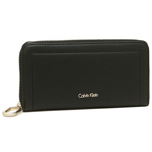 【4時間限定ポイント10倍】カルバンクライン CALVIN KLEIN 長財布 ブラック レディース 37404020 001 アウトレット