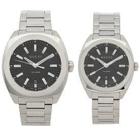 【返品OK】グッチ 腕時計 ペアウォッチ レディース メンズ GUCCI YA142201 YA142401 ブラック シルバー