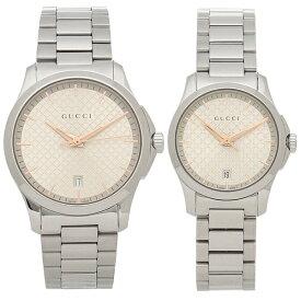 【返品OK】グッチ 腕時計 ペアウォッチ レディース メンズ GUCCI YA1264052 YA126593 シルバー