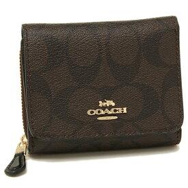 【返品OK】コーチ 折財布 アウトレット レディース COACH F41302 IMAA8 ブラウン ブラック