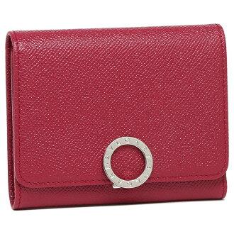 Bulgari fold wallet Lady's BVLGARI 287274 pink