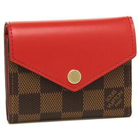 【返品保証】ルイヴィトン 折財布 レディース LOUIS VUITTON N60166 ブラウン レッド