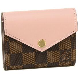 【4時間限定ポイント10倍】【返品保証】ルイヴィトン 折財布 レディース LOUIS VUITTON N60167 ブラウン ピンク