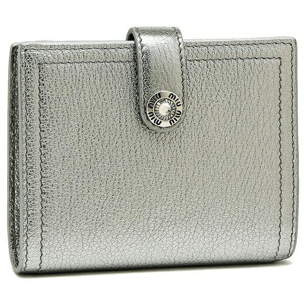 ミュウミュウ 折財布 レディース MIU MIU 5MV016 2BWA F0135 シルバー