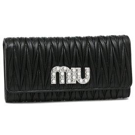 【返品OK】ミュウミュウ 長財布 レディース MIU MIU 5MH109 2BSQ F0002 ブラック
