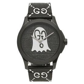 グッチ 腕時計 メンズ レディース ゴースト GUCCI YA1264018 ブラック