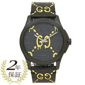 【6時間限定ポイント5倍】【返品OK】グッチ 腕時計 メンズ レディース ゴースト GUCCI YA1264019 ブラック