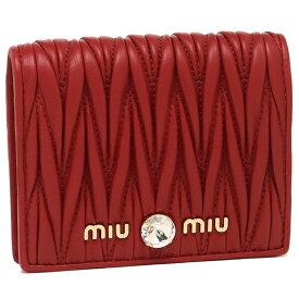 【返品OK】ミュウミュウ 折財布 レディース MIU MIU 5MV204 2B9G F068Z レッド