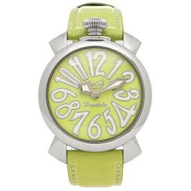 【P10倍 8/2 16時〜8/4 10時】【返品OK】ガガミラノ 腕時計 レディース GAGA MILANO 5020.LEHO3 ライトグリーン ホワイト