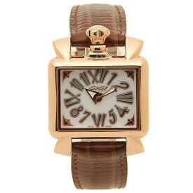 【6時間限定ポイント10倍】【返品OK】ガガミラノ 腕時計 レディース GAGA MILANO 6036.02 ブラウン ホワイト