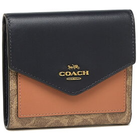 コーチ 折財布 レディース COACH 69829 B4OQU カーキ ピーチ