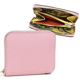 【返品OK】エルメス 折財布 レディース HERMES H077756CK AD ピンク シルバー金具