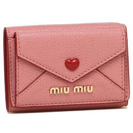 【返品OK】ミュウミュウ 折財布 レディース MIU MIU 5MH021 2BC3 F0028 ピンク