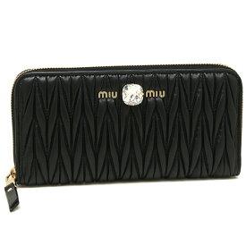 ミュウミュウ 財布 長財布 レディース MIU MIU 5ML506 2D3Y F0002 ブラック 【返品OK】