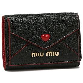 【返品OK】ミュウミュウ 折財布 レディース MIU MIU 5MH021 2BC3 F0002 ブラック