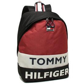 【4時間限定ポイント10倍】【返品保証】トミーヒルフィガー リュック バックパック メンズ レディース TOMMY HILFIGER TC980AE9 BLACK/WHT/RED マルチ