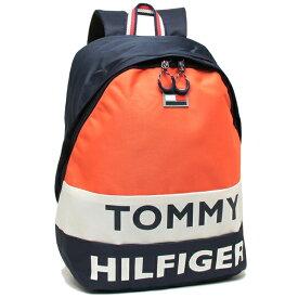 【4時間限定ポイント10倍】【返品保証】トミーヒルフィガー リュック バックパック メンズ レディース TOMMY HILFIGER TC980AE9 NAVY/WHT/ORANGE マルチ
