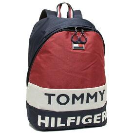 【4時間限定ポイント10倍】【返品保証】トミーヒルフィガー リュック バックパック メンズ レディース TOMMY HILFIGER TC980AE9 NAVY/WHT/RED マルチ