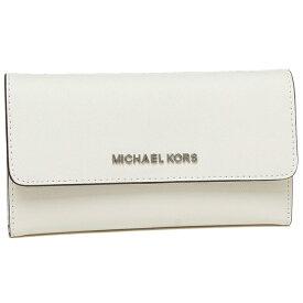 【返品保証】マイケルコース 長財布 アウトレット レディース MICHAEL KORS 35S8STVF7L OPTIC WHITE ホワイト