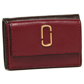 【返品OK】マークジェイコブス 折財布 レディース MARC JACOBS M0013597 947 レッド マルチ