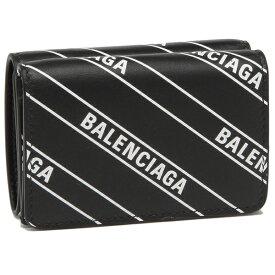 【P10倍 10/17 0時〜24時】バレンシアガ 財布 折財布 レディース BALENCIAGA 551921 0HIJN 1090 ブラック ホワイト 【返品OK】