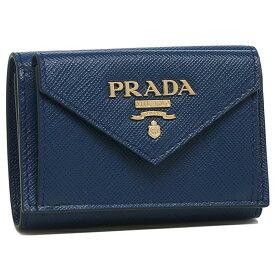 【4時間限定ポイント10倍】【返品OK】プラダ 折財布 レディース PRADA 1MH021 2E3K F0016 ブルー