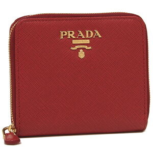 【4時間限定ポイント10倍】【返品OK】プラダ 折財布 レディース PRADA 1ML036 QWA F068Z レッド