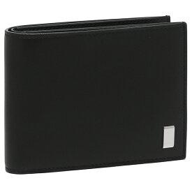 【146時間限定ポイント10倍】【返品OK】ダンヒル 二つ折り財布 サイドカーブラック ブラック メンズ DUNHILL 19F2F32AT001R