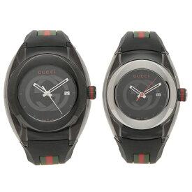 【返品OK】グッチ 腕時計 ペアウォッチ レディース メンズ GUCCI YA137107A YA137301 36MM 46MM ブラック