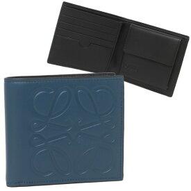 【4時間限定ポイント10倍】【返品OK】ロエベ 折り財布 メンズ ビフォルド 二つ折り財布 LOEWE 10654A501 5820 ブルー