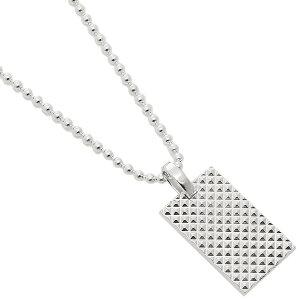 【返品OK】ティファニー ネックレス アクセサリー メンズ ダイヤモンド ポイント レクタンギュラー TIFFANY&Co. 63449237 シルバー