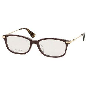 【返品OK】グッチ 眼鏡フレーム アイウェア レディース 53サイズ レッド ゴールド アジアンフィット GUCCI GG0112OA 005