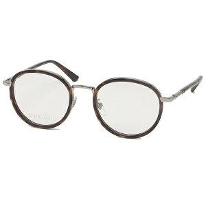 【ポイント20倍 6/17〜6/30】【返品OK】グッチ 眼鏡フレーム アイウェア メンズ レディース 50サイズ ブラウン シルバー アジアンフィット GUCCI GG0393OK 002