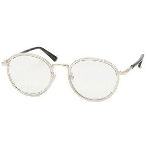 【ポイント20倍 6/17〜6/30】【返品OK】グッチ 眼鏡フレーム アイウェア メンズ レディース 50サイズ グレー ゴールド アジアンフィット GUCCI GG0393OK 003