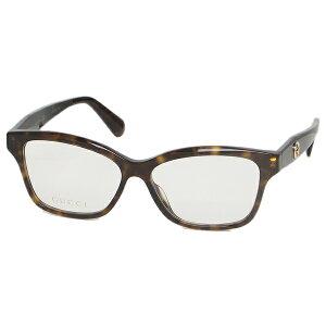 【ポイント20倍 6/17〜6/30】【返品OK】グッチ 眼鏡フレーム アイウェア レディース 54サイズ ブラウン アジアンフィット GUCCI GG0801OA 002