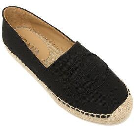 【返品OK】プラダ 靴 シューズ カナパ ヘンプ エスパドリーユ ブラック レディース PRADA 1S066M 010 F0002 020