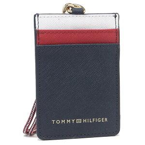 【返品OK】トミーヒルフィガー アウトレット IDケース パスケース ネイビー レッド ホワイト レディース TOMMY HILFIGER 69J0471 410