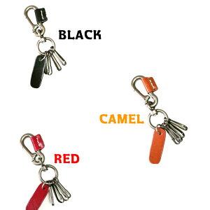 CUOIO メンズ 本革 キーホルダー 黒 赤 キャメル アメリカン アメカジ バイカー ハーレー レザー 革 キー 鍵 誕生日 プレゼント 父の日 おしゃれ かわいい ブランド