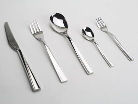 イタリアMEPRAメプラ 【ELICA】ステンレスカトラリー5ピースセット ナイフ フォーク スプーン ディナーセット ギフト キッチン雑貨 18-10ステンレス ホテル カフェ