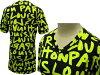 路易 · 威登限量版短 T 袖衬衫涂鸦黑色 / 绿色 732797 Louis Vuitton LV V 脖子女士
